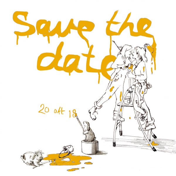 Save the date kaartje