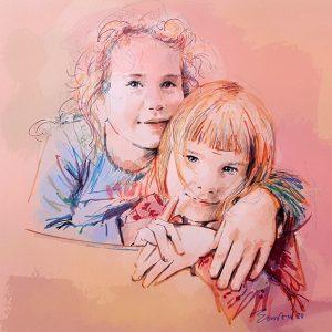 portret in kleur kinderen