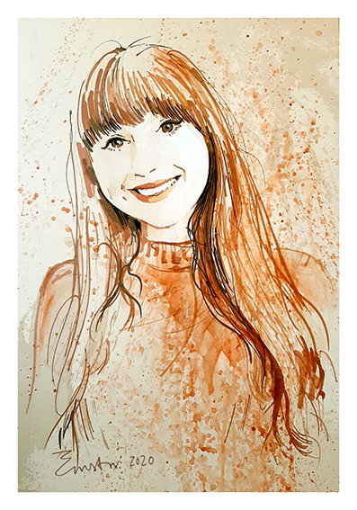 portret in een kleurtint